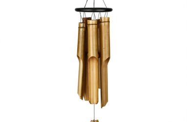 Black Ring Bamboo Chime - Large