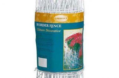White Round-Top Garden Fence
